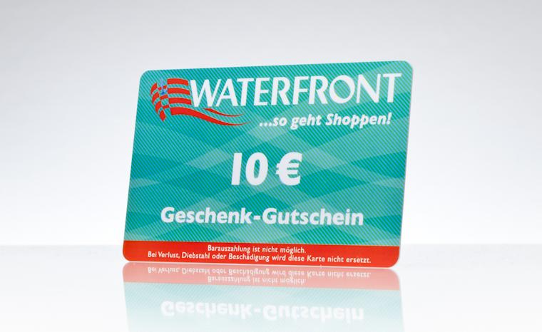 Geschenk-Gutscheinkarten Waterfront Bremen