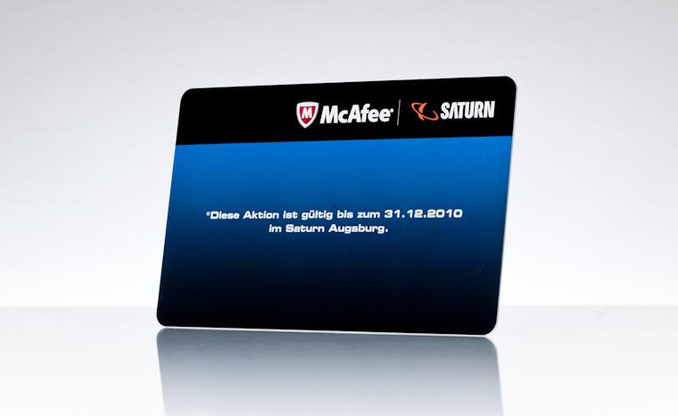 Gutscheinkarten McAfee Saturn