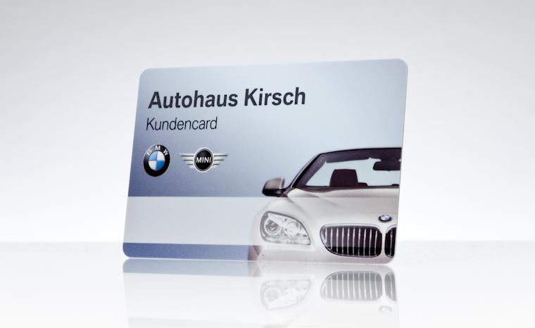 Kundenkarte BMW Autohaus Kirsch