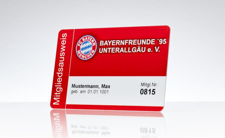 Mitgliedsausweis Bayernfreunde Unterallgäu e.V.