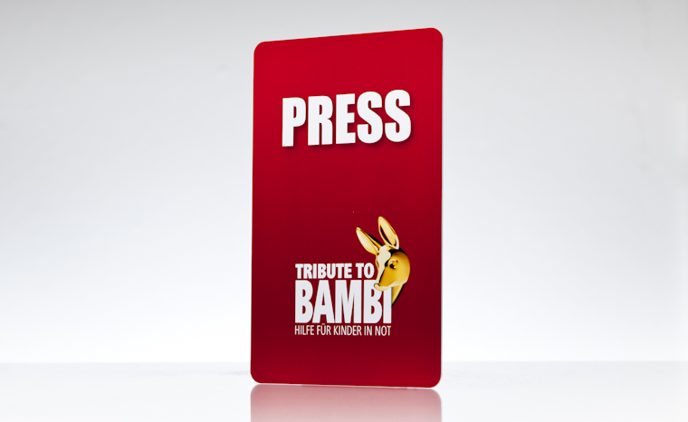 Presseausweis Tribute to Bambi - Hilfe für Kinder in Not