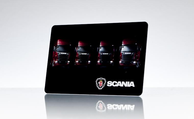 Werbekarte Scania