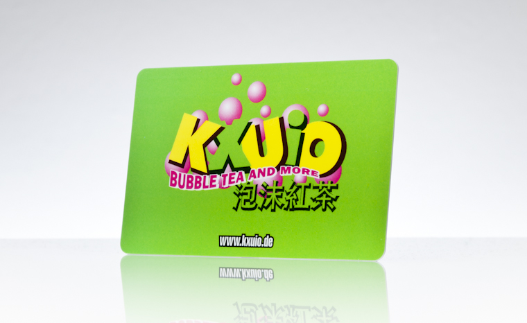 Werbekarte KXUIO